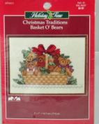 Christmas Traditions Basket O' Bears 13cm x 18cm Cross Stitch Kit