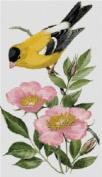 Iowa State Bird and Flower Counted Cross Stitch Pattern