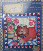 Kitty and Flowers Counted Cross Stitch Kit