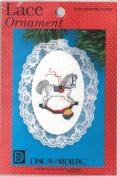 Cross stitch kits Lace ornament Rocking Horse Christmas