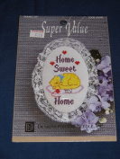 "Designs for the Needle ""Home"" Cross-Stitch Oval Hangup Kit 2006"