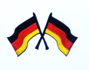 German Germany Flag DIY Applique Embroidered Sew Iron on Patch