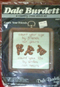 "Dale Burdett ""Count Your Friends"" Tumbling Teddy Bear Cross Stitch Kit CK277"