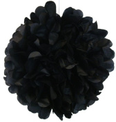Tissue Pom Pom Paper Flower Ball 20cm Black -Just Artefacts Brand