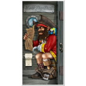 Pirate Captain Restroom Door Cover Party Accessory (1 count)