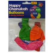 Happy Chanukah Ballons / Pack of 6