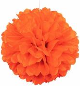 41cm Orange Tissue Paper Pom Pom