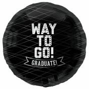 Way To Go Black-Round 46cm Foil Balloon