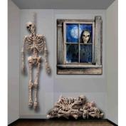 Forum Novelties Inc Dungeon Hanging Skeleton Decoration Multicoloured One Size