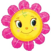 90cm Smiley Pink Flower Shape balloon