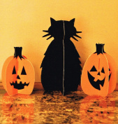 Halloween Slotted Cat and Jacks Decorations