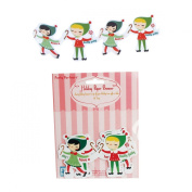 Party Partners Design Long Li'l Elves Holiday Greetings Paper People Chain Decoration, 60cm
