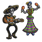 Beistle 2-Pack Jointed Day of The Dead Skeletons, 36cm