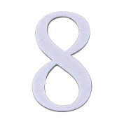 Koyal Wholesale Monogrammed Number with Adhesive Backing, 8.9cm , White, Number 8