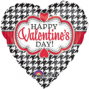 46cm Valentine's Day Houndstooth Anagram Balloons