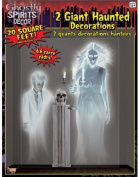 Large 4ft 5ft Haunted House Two 2 Ghostly Spirit Wall Border Scene Setter Decal