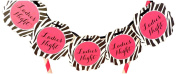 "Bella Cupcake Couture Zebra ""Ladies Night"" Itty Bitty Banner"