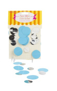 Party Partners Design Mylar Circle Party Garland, Aqua Blue and Silver