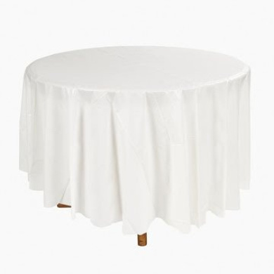 White Round Table Cover - Tableware & Table Covers