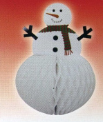 Snowman 32cm Tissue Honeycomb Centrepiece Christmas Holiday Decoration