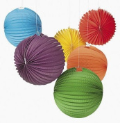 Paper Solid Colour Balloon Lanterns / LOT OF 6 PC / PARTY SUPPLIES