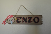 Mini Pirate Themed Door Hanger Sign