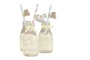 Ginger Ray Rocking Horse & Teddy Paper Straws with flags - Rock-a-bye Baby