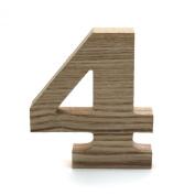 Koyal Wholesale No.4 Vintage Freestanding Wooden Numbers, 12cm
