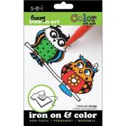 Colour My Own Iron-On Art-Owls