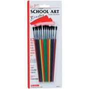 Red Sable Artist Brush Set-12/Pkg