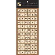 Die Cuts With A View Stickers 11cm x 25cm Sheet 1/Pkg-Brown Alphabet