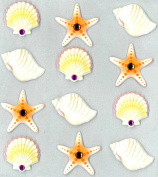 Jolee's Boutique Cabochons Dimensional Stickers, Sea Shells