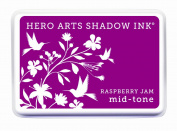 Hero Arts Rubber Stamps Mid-Tone Shadow Ink Stamp Pad, Raspberry Jam