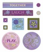Brittany's Castle Cardstock Scrapbook Stickers