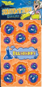 Dr Stinky's BLUEBERRY Scratch-and-Sniff Stickers, 2 sheets 4 x 6 3/4, 26 stickers