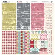 Fancy Pants Be Loved 12x12 Sticker Fundamentals Valentine Scrapbook Stickers