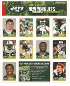 NY JETS 2004 OFFICIAL STICKER COLLECTION NY POST 5 of 5 PENNINGTON, FABINI