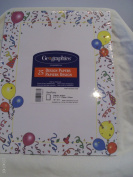 Geographics Geo Party Design Papers 25 Sheets