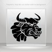 Decals Sticker Angry Bull car window bike ATV jet-ski Garage door 0502 XXX24