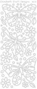 Elizabeth Craft Designs Big Butterflies Peel Off Stickers 4x9 Sheet