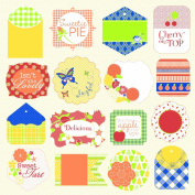 Jinger Adams Collections Sweet Tart Tag Sheet for Scrapbooking