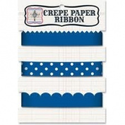 Jenni Bowlin Crepe Paper Ribbon Colour Navy