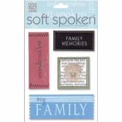 Me & My Big Ideas Soft Spoken 3 Dimensional Embellishments-Family