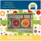 Around The Block Paper Treats Epoxy Stickers-Birthday Celebration