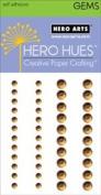 Brown Self-adhesive Assorted Gems // Hero Arts