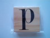 """Michaels Rubber Stamp, """"P"""""""