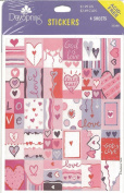 God Is Love Heart Scrapbook Stickers