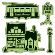 Inkadinkado Cling Stamps, Village Toys and Gifts, Mini