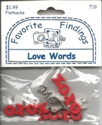 Love Words Buttons for Scrapbooking