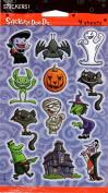 Halloween Cat Bat Costumes Scrapbook Stickers